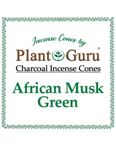 African Musk Green Incense Cones
