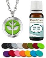 Essential Oil Diffuser Necklace Set With Stress Relief 10 ml