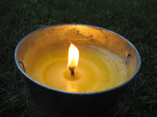 Floating Candle Bowl With Citronella